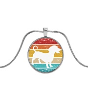 Dachshund Love Metallic Circle Necklace tile