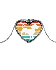 Dachshund Love Metallic Heart Necklace thumbnail