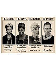 Be Strong Be Brave  Horizontal Poster tile