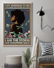 I Am The Storm She Whispered Back Style 2 11x17 Poster lifestyle-poster-1