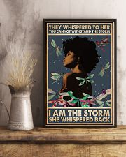 I Am The Storm She Whispered Back Style 2 11x17 Poster lifestyle-poster-3