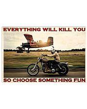 Motorbike Choose Something Fun 3 17x11 Poster front