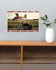Motorbike Choose Something Fun 3 17x11 Poster poster-landscape-17x11-lifestyle-24