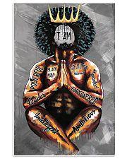 I Am Black Man 11x17 Poster front