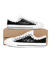 Fight For The Things You Care About Men's Low Top White Shoes inside-right-outside-right