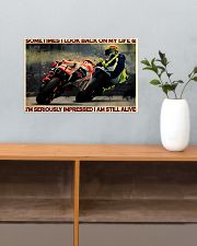 Motorcycle Racing Still Alive 17x11 Poster poster-landscape-17x11-lifestyle-24