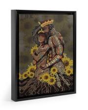 Black Couple Floating Framed Canvas Prints Black tile
