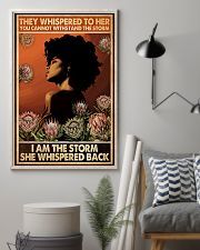 I Am The Storm She Whispered Back 11x17 Poster lifestyle-poster-1