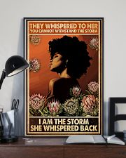 I Am The Storm She Whispered Back 11x17 Poster lifestyle-poster-2