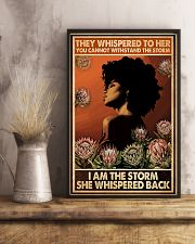 I Am The Storm She Whispered Back 11x17 Poster lifestyle-poster-3