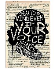 Speak Your Mind Even If Your Voice Shakes 11x17 Poster front