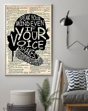 Speak Your Mind Even If Your Voice Shakes 11x17 Poster lifestyle-poster-1
