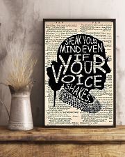 Speak Your Mind Even If Your Voice Shakes 11x17 Poster lifestyle-poster-3