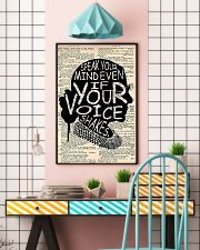 Speak Your Mind Even If Your Voice Shakes 11x17 Poster lifestyle-poster-6