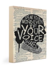 Speak Your Mind Even If Your Voice Shakes 11x14 Gallery Wrapped Canvas Prints thumbnail