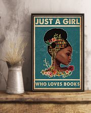 Just A Girl Who Loves Books 11x17 Poster lifestyle-poster-3
