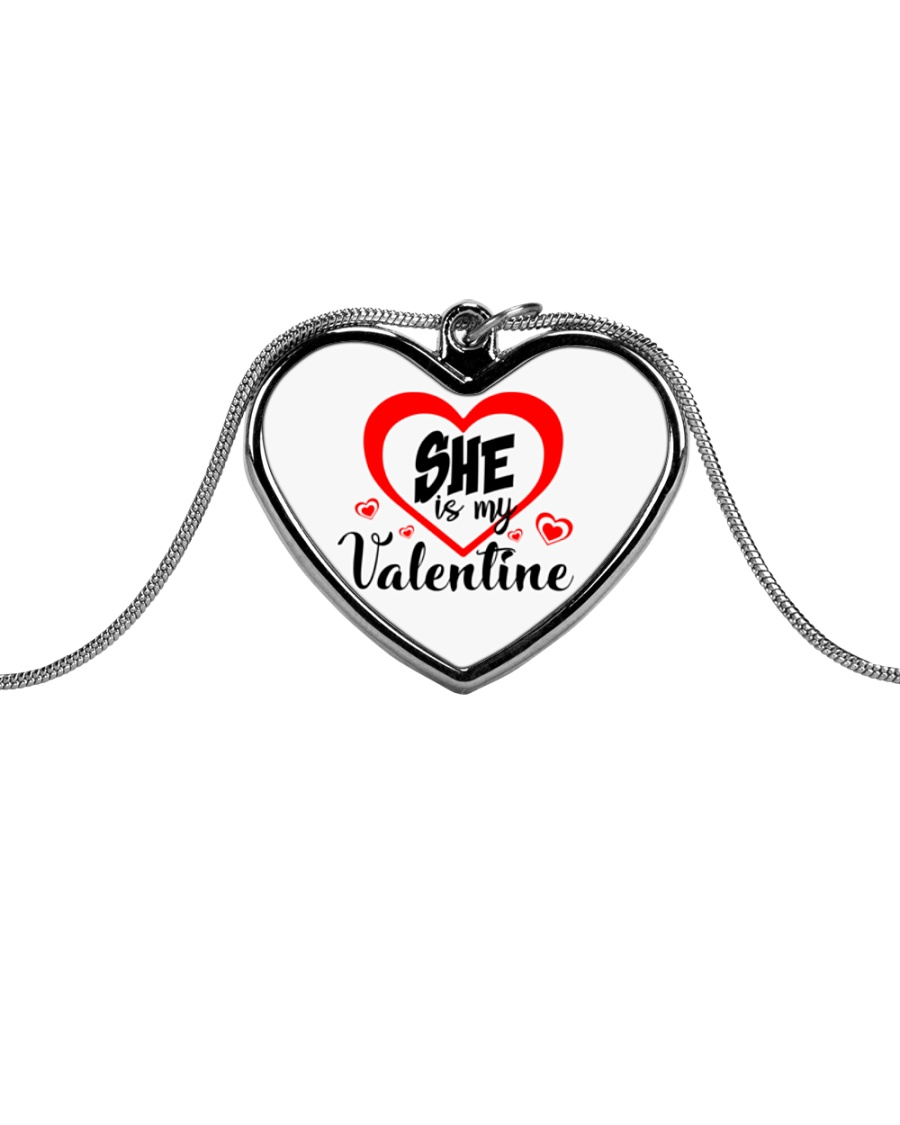 Men's She's my Valentine Valentine's Day jewellery Metallic Heart Necklace