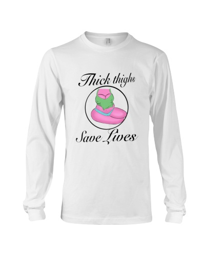 Thick Thighs Save Lives Long Sleeve - Black Words