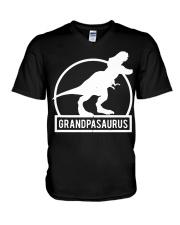 Grandpasaurus T-Shirt Fathers Day V-Neck T-Shirt thumbnail