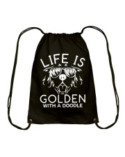 Like Is Golden With A Doodle T-shirt Drawstring Bag thumbnail