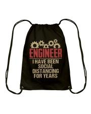 Engineer I Have Been Social Distancing shirt Drawstring Bag thumbnail