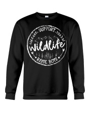 Mom Support Wildlife Raise Boys T-Shirt Crewneck Sweatshirt thumbnail