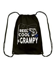 Reel Cool Grampy Shirt Fishing Gift Drawstring Bag thumbnail