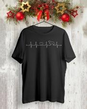 Labrador Retriever Heartbeat Labrador T-Shirt Classic T-Shirt lifestyle-holiday-crewneck-front-2