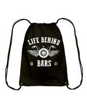Life Behind Bars Motorcycle Father's Day Shirt Drawstring Bag thumbnail