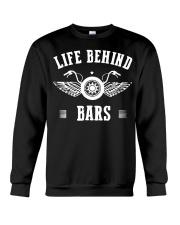 Life Behind Bars Motorcycle Father's Day Shirt Crewneck Sweatshirt thumbnail