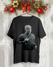 Anthony Bourdain Middle Finger and Beer T-Shirt Classic T-Shirt lifestyle-holiday-crewneck-front-2