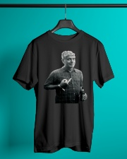 Anthony Bourdain Middle Finger and Beer T-Shirt Classic T-Shirt lifestyle-mens-crewneck-front-3