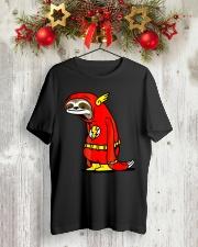 Funny Sloth Superhero t-shirt Classic T-Shirt lifestyle-holiday-crewneck-front-2
