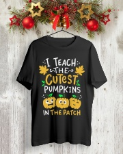 Halloween Shirt Pre-K Teacher Tshirt Classic T-Shirt lifestyle-holiday-crewneck-front-2
