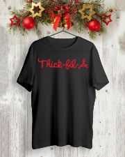 Thick-Fil-A Shirt with Red Design Classic T-Shirt lifestyle-holiday-crewneck-front-2