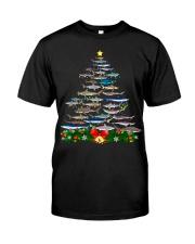 Shark Tree Christmas T-Shirt Classic T-Shirt front