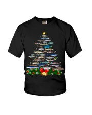 Shark Tree Christmas T-Shirt Youth T-Shirt thumbnail
