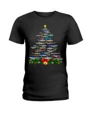 Shark Tree Christmas T-Shirt Ladies T-Shirt thumbnail
