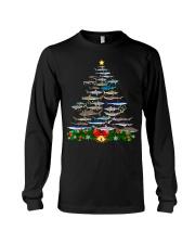 Shark Tree Christmas T-Shirt Long Sleeve Tee thumbnail
