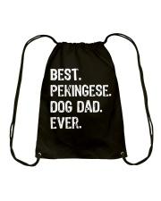 Pekingese Dog Dad Fathers Day Gift Shirt Drawstring Bag thumbnail