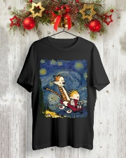 Calvin And Hobbes T-Shirt Classic T-Shirt lifestyle-holiday-crewneck-front-2