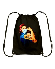 Strong nurse rosie riveter T-Shirt Drawstring Bag tile