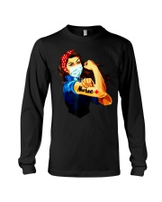 Strong nurse rosie riveter T-Shirt Long Sleeve Tee tile