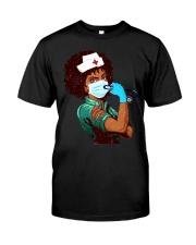 Black Nurse Strong Women shirt Classic T-Shirt front