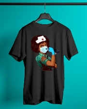 Black Nurse Strong Women shirt Classic T-Shirt lifestyle-mens-crewneck-front-3