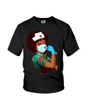 Black Nurse Strong Women shirt Youth T-Shirt thumbnail