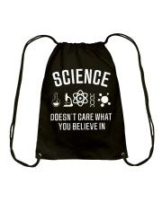 Science Believe In Atheist T shirt Drawstring Bag thumbnail