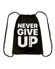 Moh-Salah-Never-Give-Up-Blackb-T-Shirt Drawstring Bag thumbnail