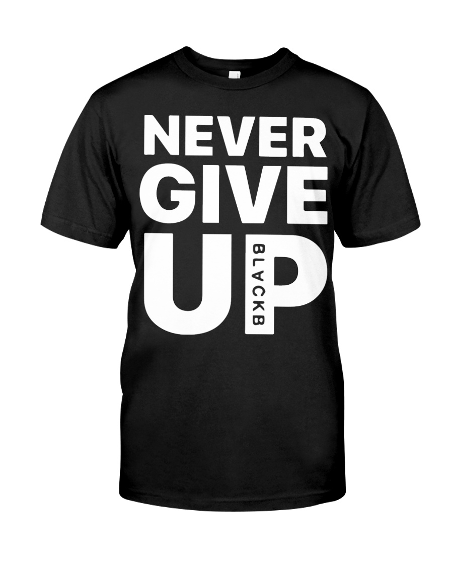 Moh-Salah-Never-Give-Up-Blackb-T-Shirt Classic T-Shirt