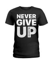 Moh-Salah-Never-Give-Up-Blackb-T-Shirt Ladies T-Shirt thumbnail